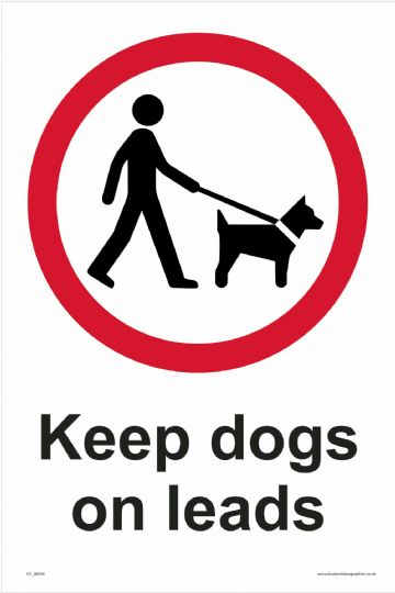 Keep dogs on leads